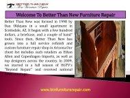 Furniture Restoration Glendale