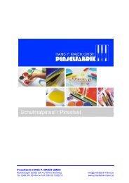 Schulmalpinsel und Pinselset – Katalog 2016