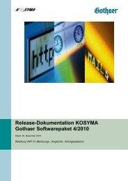 Release-Dokumentation KOSYMA Gothaer Softwarepaket 4/2010