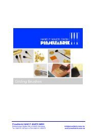 Gilding Brushes and Special Brushes – Catalogue 2016