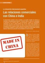 Las relaciones comerciales con China e India