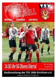 20.11.2016 Stadionzeitung SG Oberes Edertal