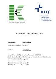 K T Q - Q U A L I T Ä T S B E R I C H T - KreisKrankenhaus Grünstadt