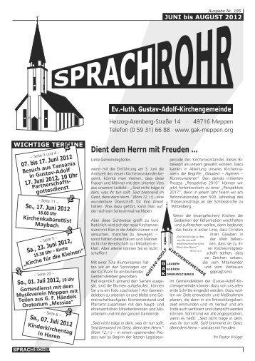 Dient dem Herrn mit Freuden - luth. Gustav-Adolf-Kirchengemeinde ...