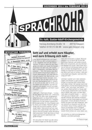Aus dem Visitationsbericht von Kirchen - luth. Gustav-Adolf ...