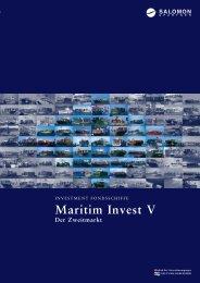 Beteiligungsangebot Maritim Invest V