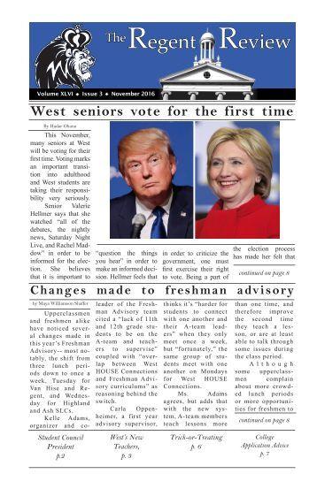 Regent Review-- November 2016