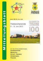 Standesamtliche Nachrichten - Samtgemeinde Freren