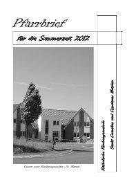 Sommerpfarrbrief 2012 - Kath. Kirche Metelen