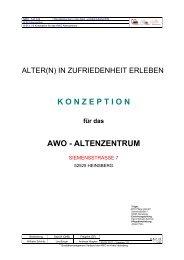 KONZEPTION für das AWO - ALTENZENTRUM - AWO-HS