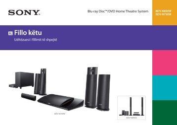 Sony BDV-N790W - BDV-N790W Guida di configurazione rapid Albanese