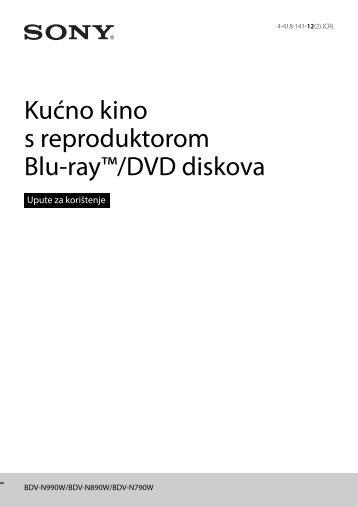 Sony BDV-N790W - BDV-N790W Istruzioni per l'uso Croato