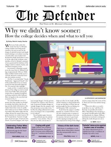 Fall Issue #3: November 17. 2016