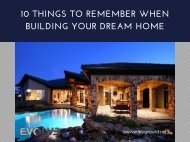 10 Things To Remember When Building Your Dream Home