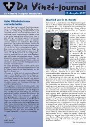 Da Vinzi-journal St.-Vinzenz-Hospital Haselünne Abschied von Sr ...
