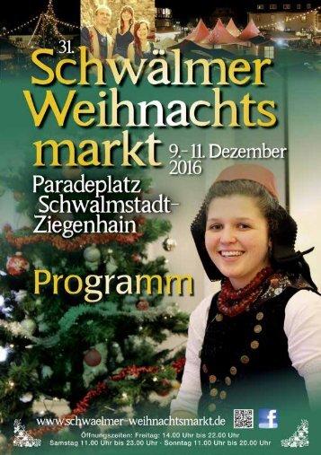 Das Programm zum 31. Schwälmer Weihnachtsmarkt
