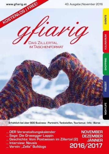 gfiarig Ausgabe43 November 2016 - Das Zillertal