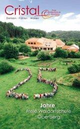 Cristal 2016 - Zeitschrift - Freie Waldorfschule Oberberg