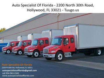 Auto Specialist Of Florida - 2200 North 30th Road, Hollywood, FL 33021 - Tuugo.us