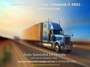 Auto Specialists Of Florida - Hollywood, FL 33021 - ShowMeLocal.com