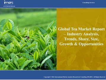 Tea Market Forecast Report 2016-2021