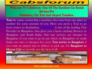 Bangalore to Tirupati Car Rentals