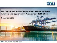 Decorative Car Accessories Market Revenue, Opportunity, Forecast and Value Chain 2016-2026