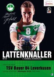Lattenknaller 03 - 30.10.2016 - Saison 2016/17 - FRISCH AUF Frauen
