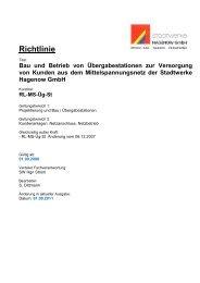 Richtlinie - Stadtwerke Hagenow GmbH