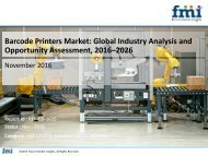 Barcode Printers Market expected to grow at a CAGR of 7.4% during 2016 to 2026