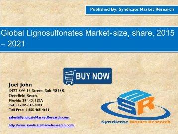 Lignosulfonates Market