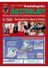 Ausgabe 09/2004 - Landesärztekammer Brandenburg