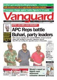 MTEF, $29.9BN LOAN REQUEST: APC Reps battle Buhari, party leaders