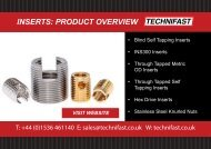 INSERTS PRODUCT OVERVIEW
