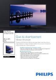 Philips 3000 series Téléviseur LED ultra-plat - Fiche Produit - FRA