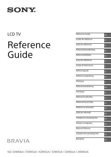 Sony KDL-42W654A - KDL-42W654A Guida di riferimento Svedese