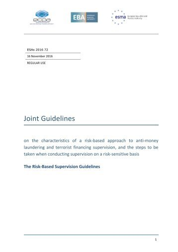Joint Guidelines