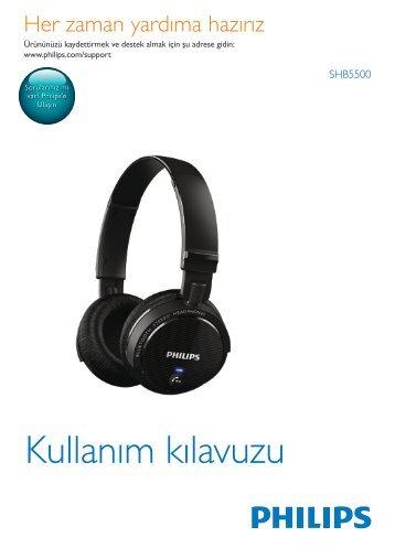 Philips Casque Bluetooth® sans fil - Mode d'emploi - TUR