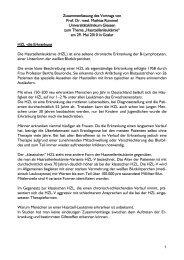 Zusammenfassung des Vortrags von Prof. Dr. med. Mathias Rummel ...