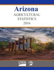 Arizona Annual Bulletin 2016 1 USDA National Agricultural Statistics Service