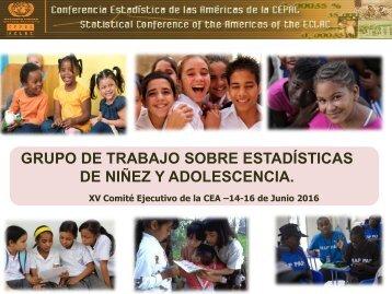 GRUPO DE TRABAJO SOBRE ESTADÍSTICAS DE NIÑEZ Y ADOLESCENCIA
