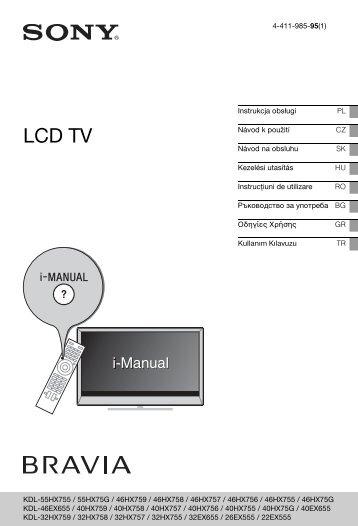 Sony KDL-46HX757 - KDL-46HX757 Istruzioni per l'uso Greco