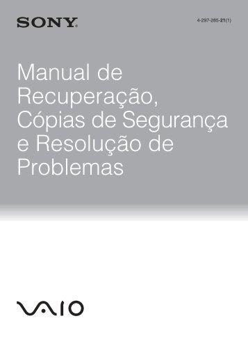 Sony VPCSA3M9E - VPCSA3M9E Guida alla risoluzione dei problemi Portoghese
