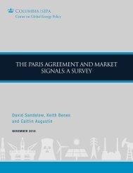THE PARIS AGREEMENT AND MARKET SIGNALS A SURVEY