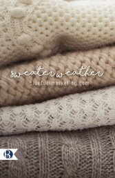 Sweater Weather Flip Book