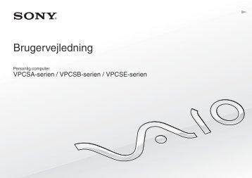 Sony VPCSA3M9E - VPCSA3M9E Istruzioni per l'uso Danese