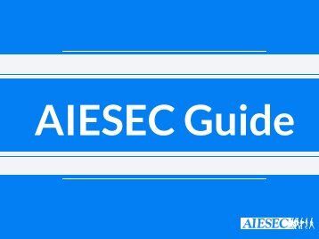AIESEC Guide