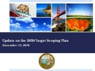 Update on the 2030 Target Scoping Plan