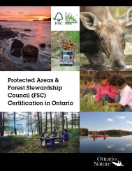 Protected Areas & Forest Stewardship Council (FSC) Certification in Ontario