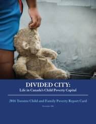 Divided City Life In Canada's Child Poverty Capital